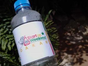 Bouteille d'eau Startup Weekend Dakar 2013
