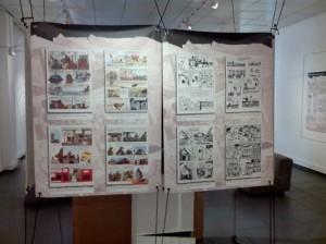 Affiches à l'exposition à l'IFM. Crédit: Rija R.