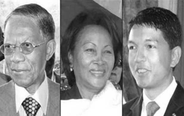 Les 3 candidats contreversés: Didier Ratsiraka, Lalao Ravalomanana, Andry Rajoelina. Crédit photo: montage photo!