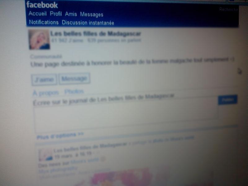 Exemple de page facebook