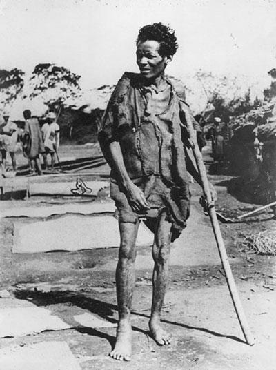 La famine frappant les paysans en 1947