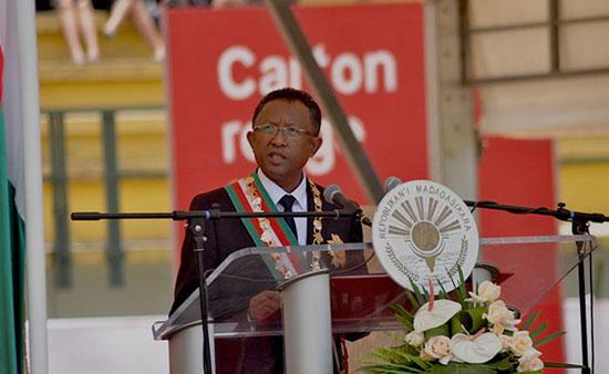 Hery Rajaonarimampianina, discours d'investiture