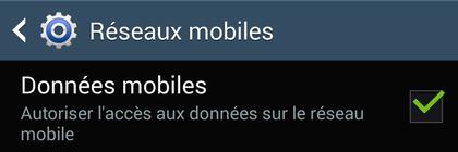 Internet activé sur une tablette sous Android